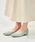 ORiental TRaffic(オリエンタルトラフィック)の「春夏★切替フラットパンプス★9115(パンプス)」|グリーン