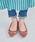 ORiental TRaffic(オリエンタルトラフィック)の「春夏★切替フラットパンプス★9115(パンプス)」|詳細画像