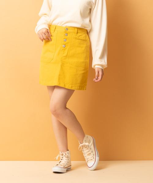 デカポケ付台形スカート