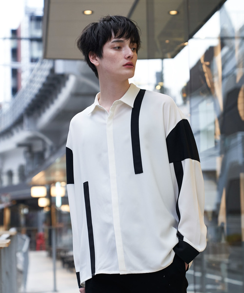 XTRAP RYOGA × INTER FACTORY ライン切替シャツ
