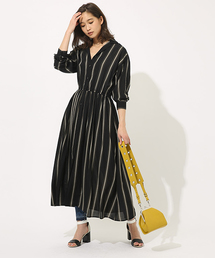 AZUL BY MOUSSY(アズールバイマウジー)のBROWSING MAXI ONEPIECE/ブラウジングマキシワンピース(ワンピース)
