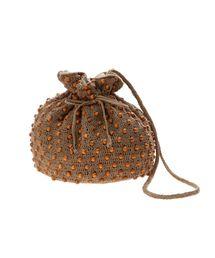 f2a31dc10201 LAGUNAMOON(ラグナムーン)の「WOODビースクロシェ巾着BAG(ハンドバッグ)」