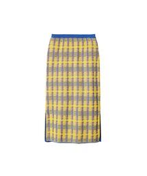 LE CIEL BLEU(ルシェルブルー)のCheck Knit Skirt(スカート)