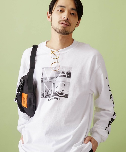 VANS/ヴァンズ California Photo L/S T-Shirt フォトプリント長袖Tシャツ