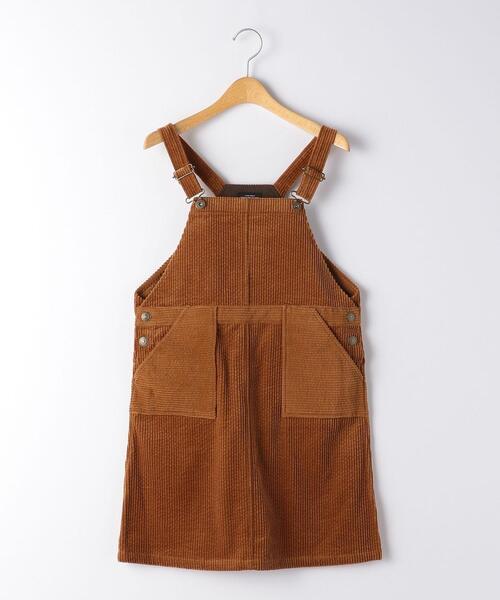 【ジュニア】太コールジャンパースカート