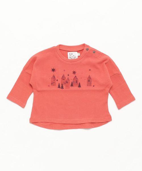 LaStella(ラステラ)の「お家ptベビーロンT(Tシャツ/カットソー)」|ピンク