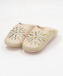 <Fatima Morocco>刺繍×スパンコール バブーシュ