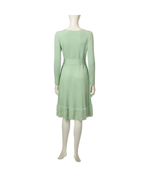 フリルニットドレス