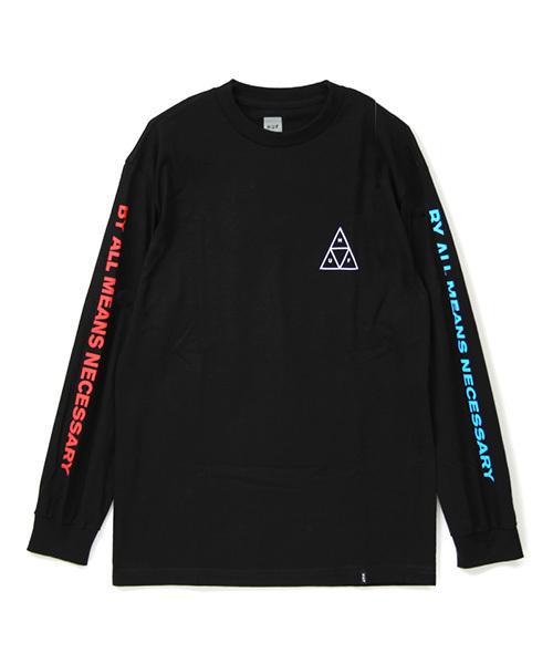 huf ハフ multi triple triangle ls tee tシャツ tシャツ カットソー