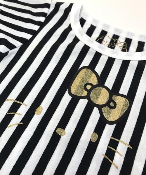 [80-120]ハローキティストライプシャツ(日本製)