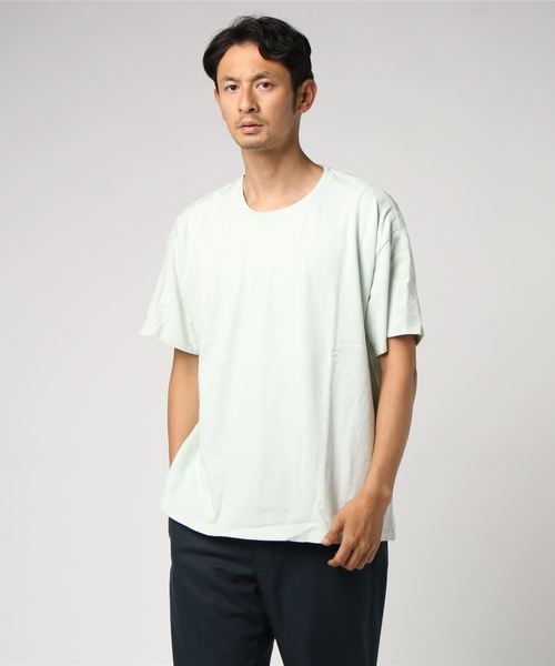 LINE8 ボックスシャツ CRATER PALE BLUE GRAPHIC