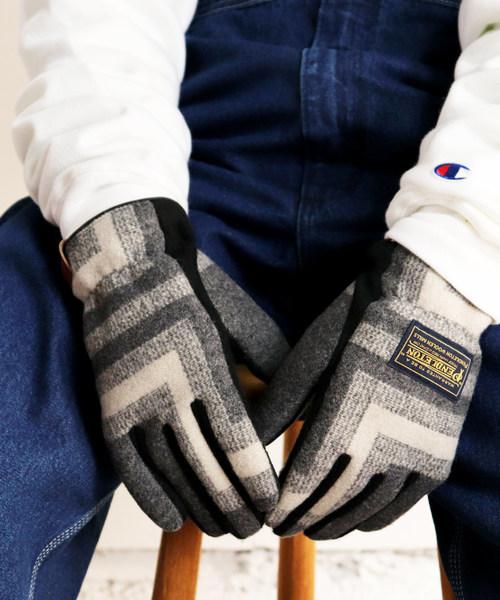 【THE BAREFOOT限定】【PENDLETON/ペンドルトン】ネイティブ柄 ウール手袋 /グローブ/MENS PDW GLOVE