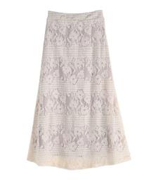 axes femme(アクシーズファム)のボーダーレースロングスカート(スカート)