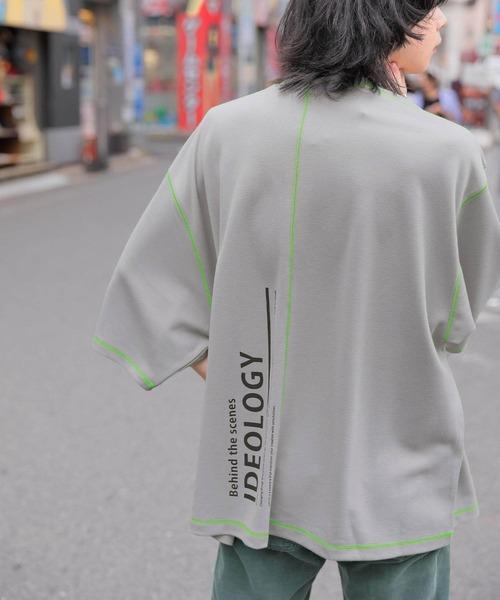 【BASQUE -enthusiastic design-】ビッグシルエットカラーステッチカットソー