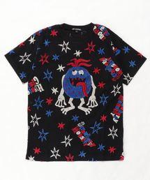 STBM オーバーサイズジャカードTシャツ【L】ブラック
