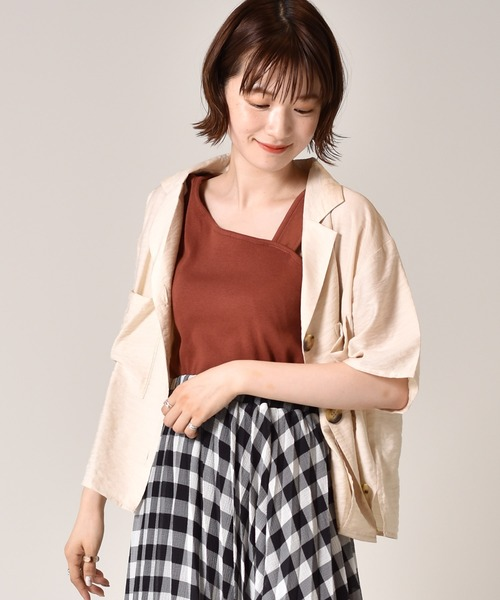 麻ライクシャツ