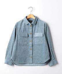 【ジュニア】太コールCPOシャツ