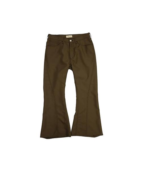 <JieDa> POLYESTER BOOTS CUT PANTS/ブーツカットパンツ