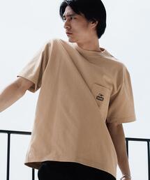 別注 [ チャムス ] CHUMS GLR ロゴ ポケット Tシャツ ポケT カットソー