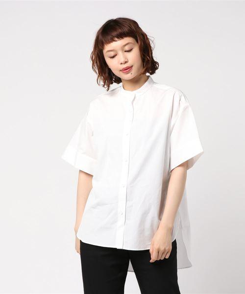 ハーフスリーブ3WAYパターンブロードシャツ