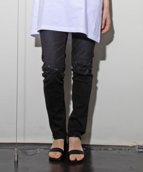有名なブランド 【セール】【YOLO】クラッシュデニムスキニーパンツ(デニムパンツ)|YOLO(ヨーロ)のファッション通販, 美の国:d6d250c2 --- 888tattoo.eu.org