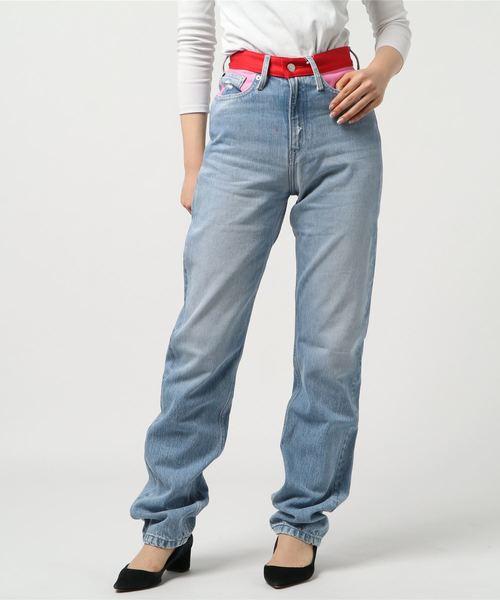 新作からSALEアイテム等お得な商品満載 【セール KLEIN】【CALVIN カラー KLEIN JEANS】ハイウェスト ストレート カラー ブロック ブロック ジーンズ CKJ030(デニムパンツ)|Calvin Klein Jeans(カルヴァンクラインジーンズ)のファッション通販, ティアクラッセ:3edd0f78 --- dpu.kalbarprov.go.id