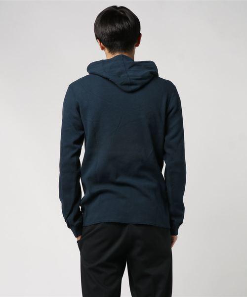 #ハニカムワッフル フーデッド Tシャツ/ L/S HANEYCOMB WAFFLE HOODED T-SHIRT