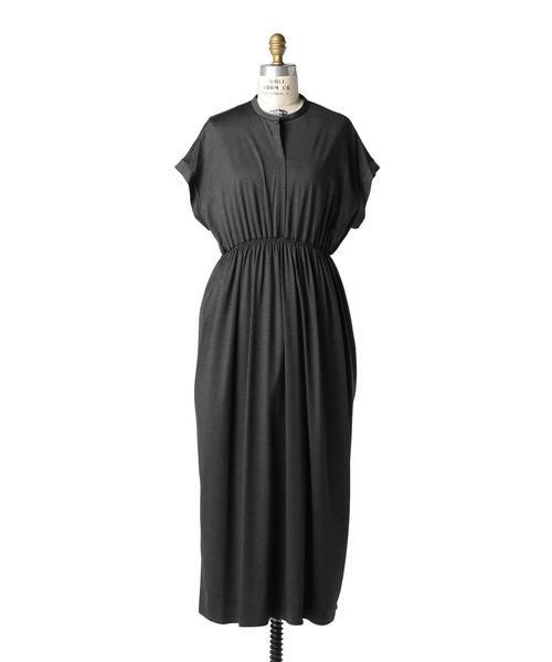 Drawer ウェストギャザーロングドレス