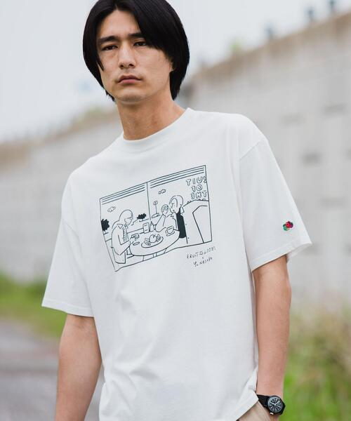 別注 [ フルーツオブザルーム × 長場 雄 ] FRUIT OF THE LOOM × Yu Nagaba ディナー Tシャツ