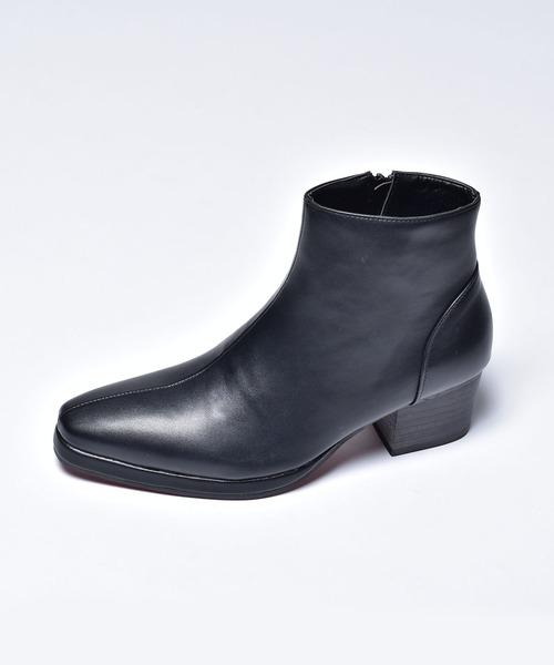 endevice(エンデヴァイス)の「ストーム ジップ ヒールブーツ / ドレスブーツ endevice / エンデヴァイス(ブーツ)」|ブラック