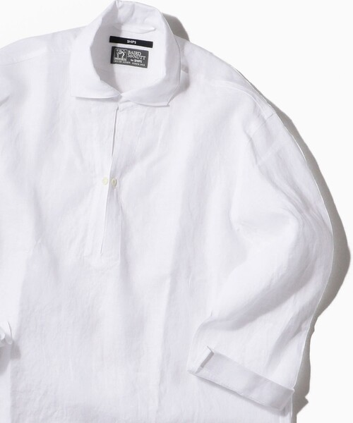 SHIPS(シップス)の「SC: BAIRD MCNUTT リネン リラックス 7スリーブ カプリ シャツ(シャツ/ブラウス)」|ホワイト