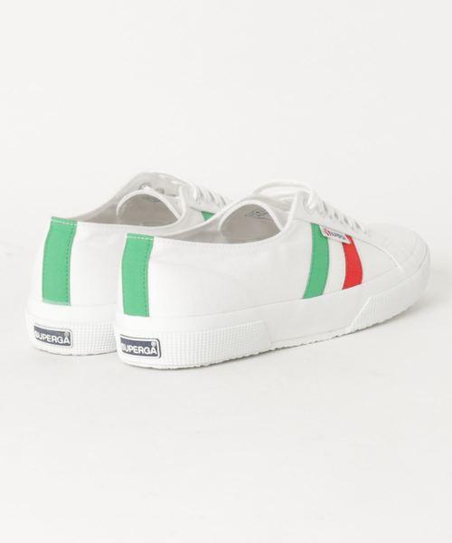 SUPERGA 2750-COTUFLAGSIDE (White-Green Red)