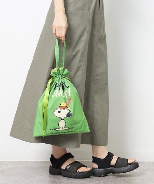 【 PEANUTS / ピーナッツ 】巾着トートバッグ スヌーピー 27702018 KBI