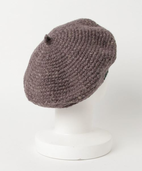 KOMA BIG BERET/HEMP WOOL ヘンプ素材ベレー帽