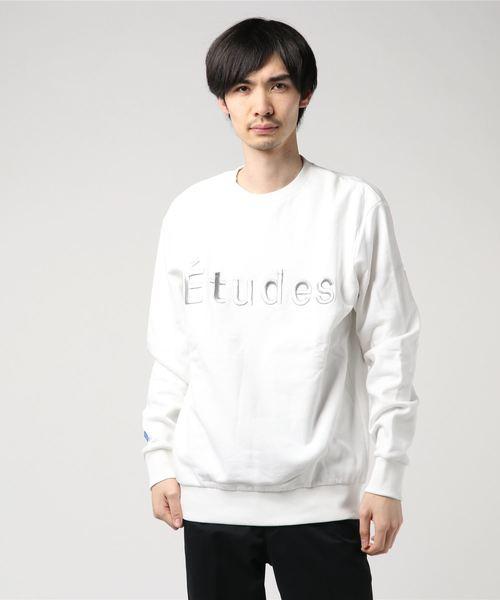 【Etudes】ETOILE ETUDES/エチュード ロゴ刺繍スウェット