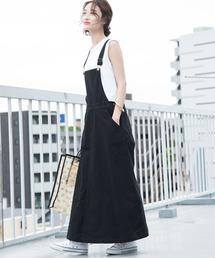 ViS(ビス)の【WEB限定】コットンツイルジャンパースカート(ジャンパースカート)