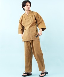 8(eight)(エイト)のコットン 作務衣 作業着 ネイビー 甚平(浴衣)