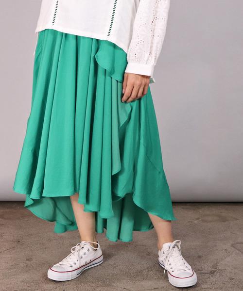 ∴【ROSIEE/ロージー】 フレアースカート アシンメトリースカート