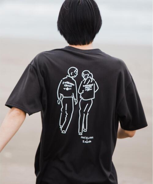 別注 [ フルーツオブザルーム × 長場 雄 ] FRUIT OF THE LOOM × Yu Nagaba ドライブ Tシャツ