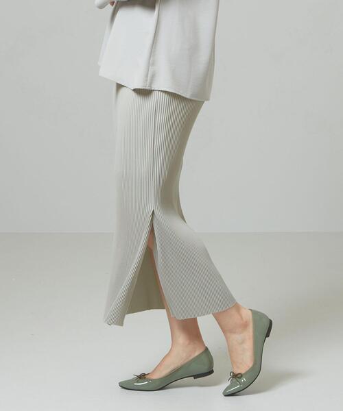 【予約】<closet story>□プリーツ マキシ タイトスカート -手洗い可能-