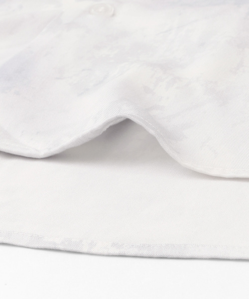 ボタニカルオープンカラーシャツ(5分袖)
