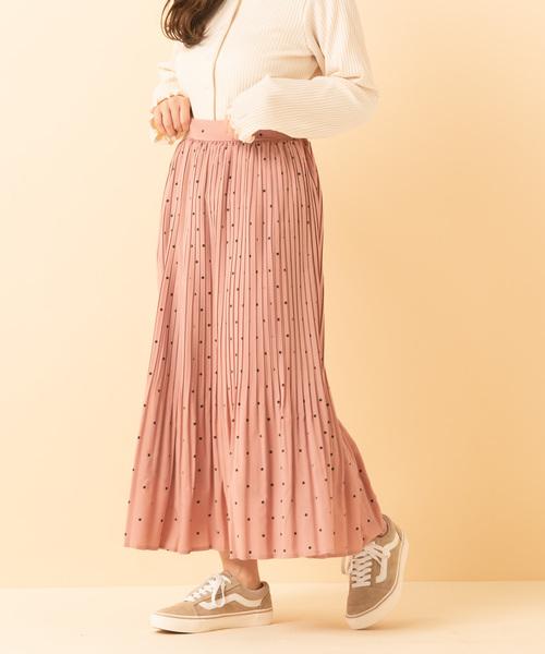アソート柄プリーツスカート