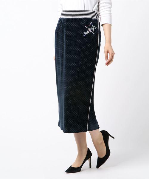 STAR LOGO刺繍 ペンシルスカート