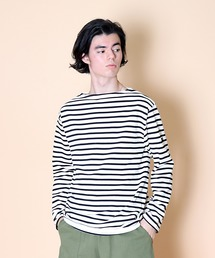 【 SAINT JAMES / セントジェームス 】 GUILDO  バスクシャツ R A 2501・U A 2503ホワイト系その他