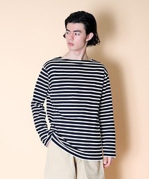 【 SAINT JAMES / セントジェームス 】 GUILDO  バスクシャツ R A 2501・U A 2503ブラック系その他