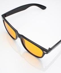 サングラス べっ甲 ボストン型 ウェリントン型 カラーレンズ/MONO-MART Select(サングラスケース箱付き)オレンジ系その他