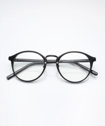 サングラス べっ甲 ボストン型 ウェリントン型 カラーレンズ/MONO-MART Select(サングラスケース箱付き)ブラック