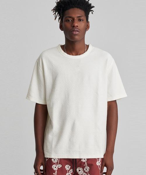 elliot jacquard short sleeve shirt tシャツ カットソー saturdays