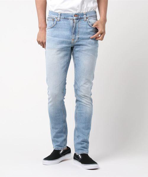 Nudie Jeans(ヌーディージーンズ)の「Lean Dean / Joshua Worn(デニムパンツ)」|ライトインディゴブルー