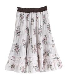 axes femme(アクシーズファム)の花柄プリーツスカート(スカート)